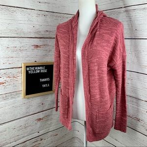 American Eagle Outfitters Pink Hoodie Cardigan